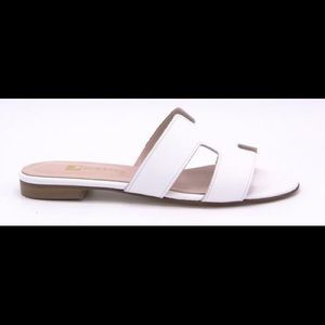 Pascucci made in Italy white leather slides